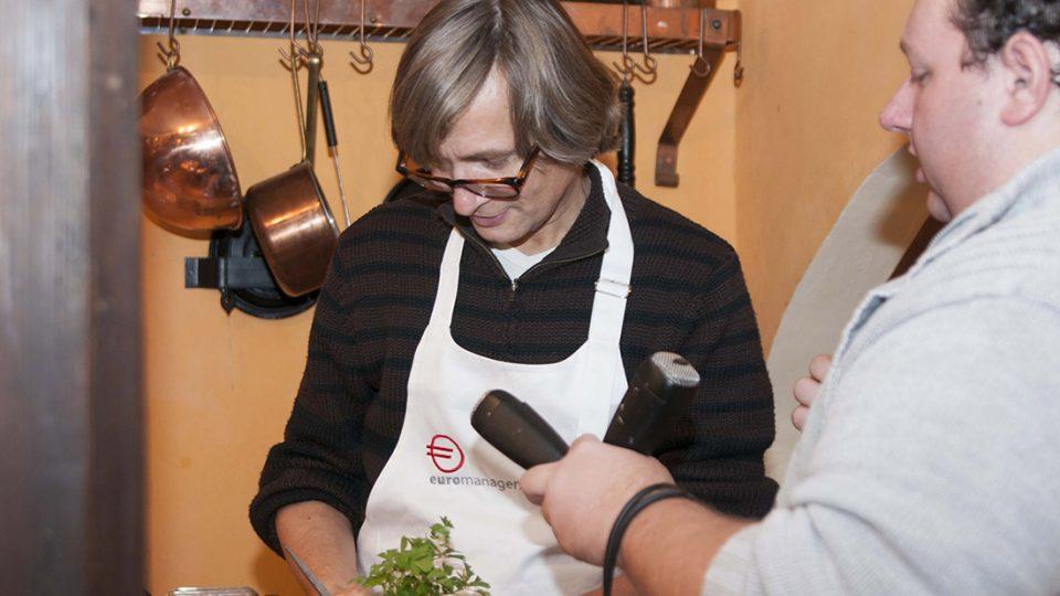 Rudy Linka  - natáčení pořadu Jazzové vaření