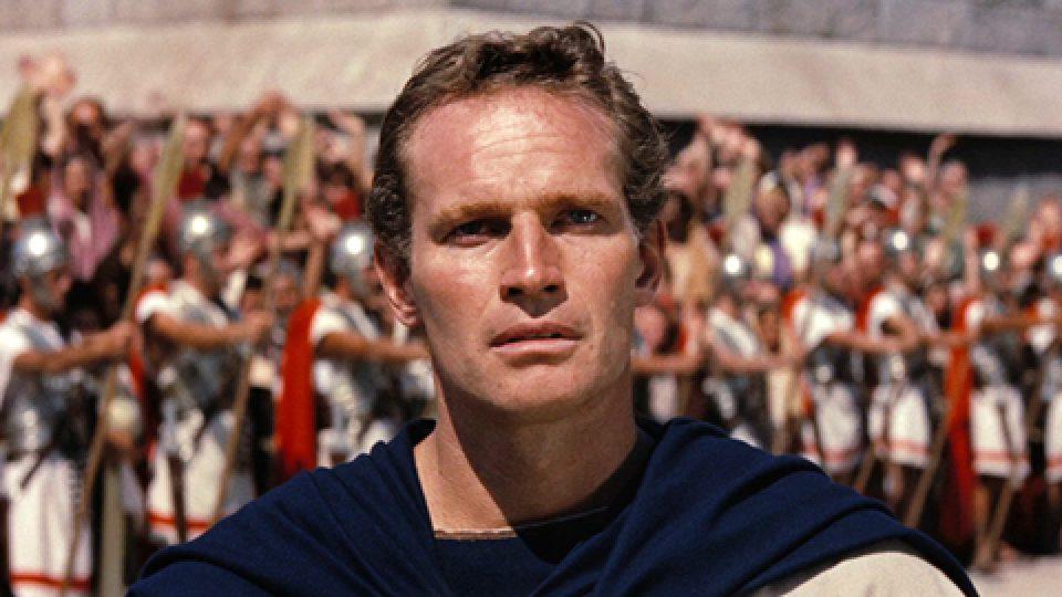 Charlton Heston jako Ben Hur ve filmovém zpracování z roku 1959, které získalo 11 Oscarů