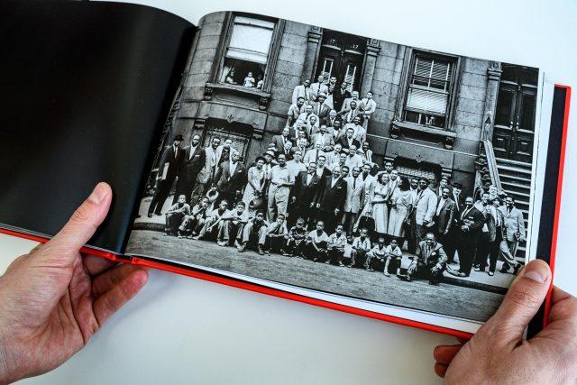 A Great Day in Harlem: stránka z knihy Harlem 1958
